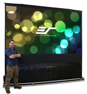 Elite's 5-Second Projection Screen Provides Fast Solution for Rental & Staging or Other Portable Projection Screen Applications