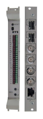 RTS Intercom Systems launches the MADI-16+ scalable multichannel audio digital interface card at NAB 2010