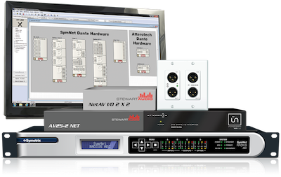 Symetrix Partners with Attero Tech & Stewart Audio to Deliver Dante Ease