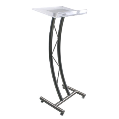 AmpliVox Curved Acrylic Truss Lectern Delivers Distinctive and Elegant Style