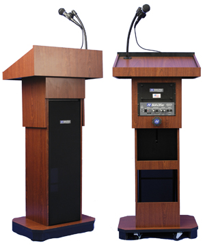 AMPLIVOX Executive Adjustable Sound Column Lectern - S505A
