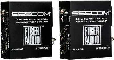 BATTERY-OPERATED AUDIO OVER SINGLE FIBER EXTENDER SES-X-FA2