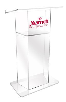 New AmpliVox RTA Lectern Offers Acrylic Elegance with Exceptional Portability