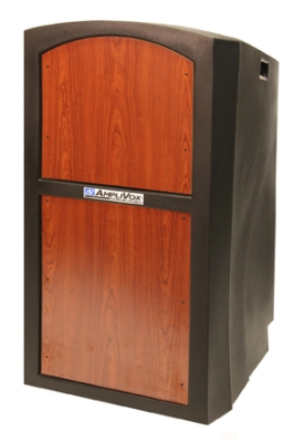 AmpliVox's New Pinnacle Podium Elevates Styles and Function Design