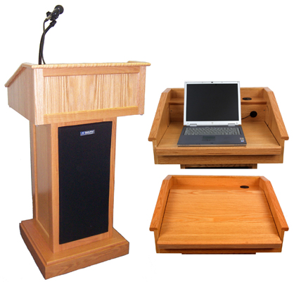 AMPLIVOX Solid Hardwood Full Height Lectern - Victoria
