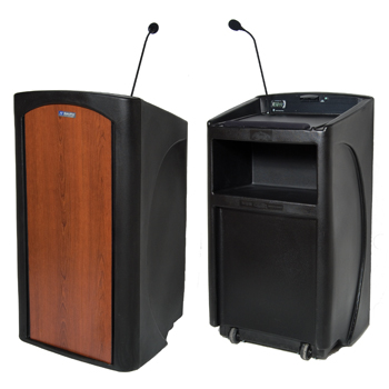 AMPLIVOX Pinnacle Full Height Plastic Molded Lectern