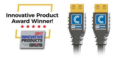 Comprehensive Wins SVC Innovative Product Award for Pro AV/IT Certified 18G Commercial Grade 4K HDMI Cables