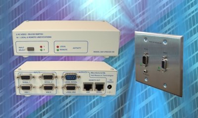 Hall Research Introduces Dual PC Video & RS-232 Switch with Local and Remote User Capability