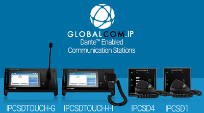 AtlasIED Introduces Dante™ Enabled Communication Stations to GLOBALCOM.IP Building Communication Platform