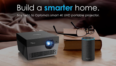 Optoma Breaks New Ground with Compact, 4K Voice-Assistant Compatible Projector; Completely Portable Plug-and-Play HD Projectors