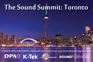 DPA Microphones, Lectrosonics, Sound Devices, and K-Tek to Host The Sound Summit Toronto