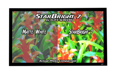 ELITE SCREENS, INC. STARBRIGHT7 PROJECTION SCREEN IS NOW AVAILABLE IN UP TO 200-INCH SIZES