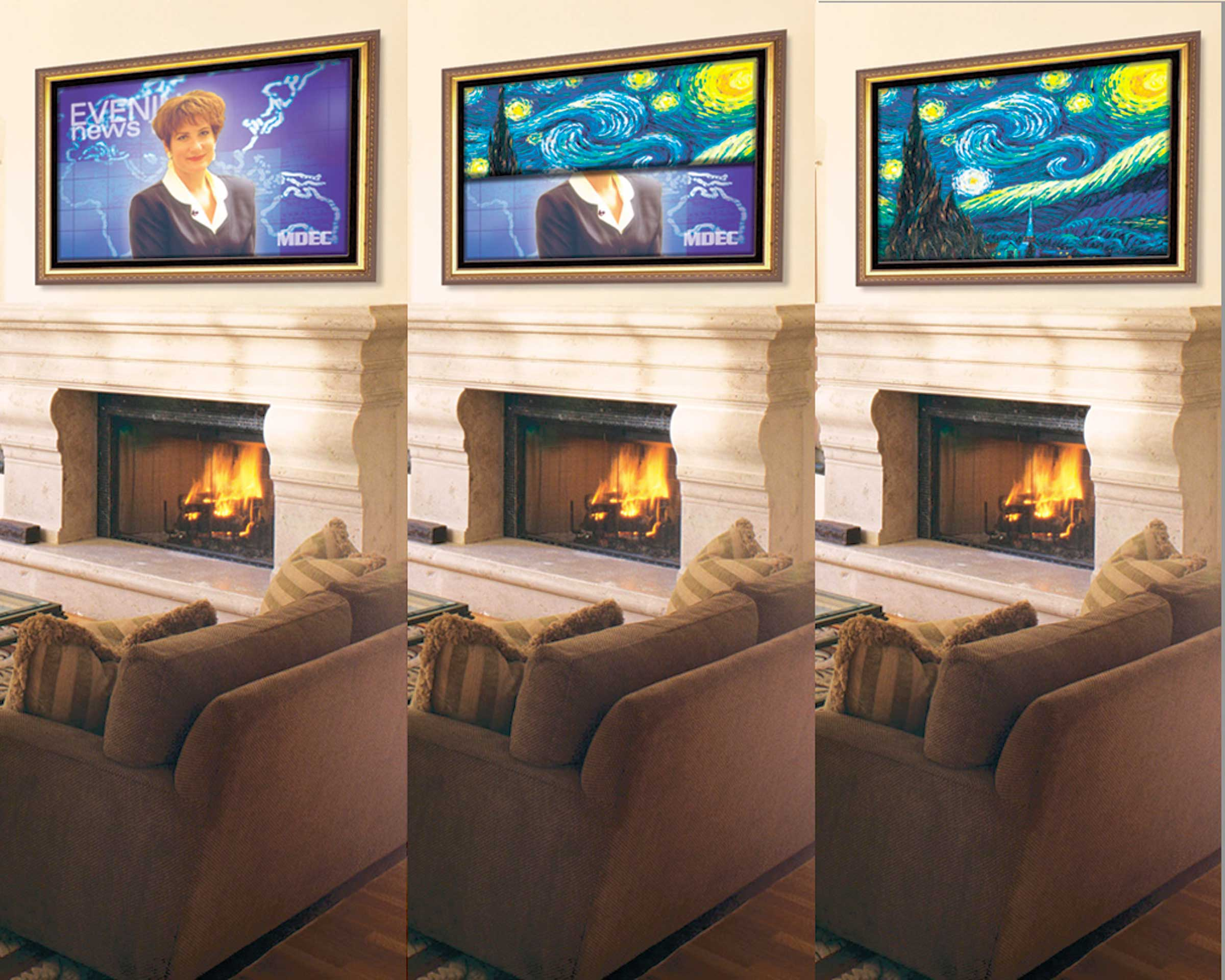 Stewart Filmscreen Introduces Stewart Media Décor, a New System to Display Art in Media-Centric Rooms