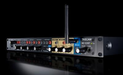 TASCAM Introduces Compact MZ-123BT  Commercial Grade Multi-Zone Audio Mixer
