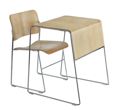 AVTEQ Pairs Desk with Best-Selling Stackable Chairs