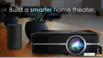 Optoma Ships World's First, Highly Anticipated Alexa-Compatible Home Theater Projector