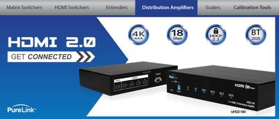 PureLink Adds UHD/4K Distribution Amplifier to its HDMI 2.0 Offerings