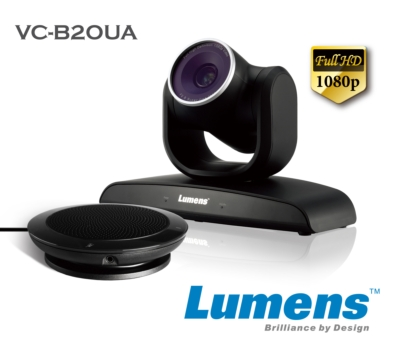 Lumens Introduces the VC-B20UA HD PTZ USB Camera and Speakerphone Kit