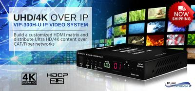 PureLink Now Shipping Its UHD Video over IP Solution Worldwide