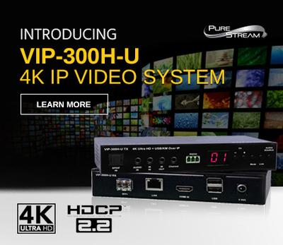 PureLink Launches World's First 4K60 IP Video over CAT/Fiber Extension System