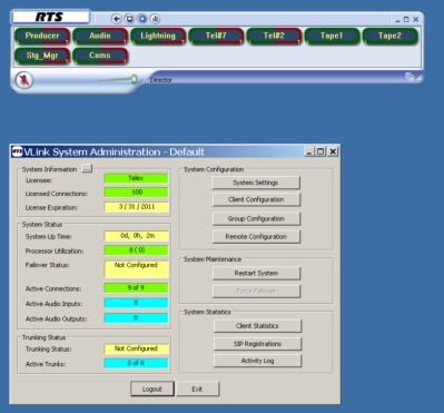 RTS presents RTS VLink (Virtual Linked Intercom) system at InfoComm 2011, booth 1201