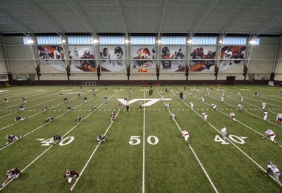 Hokies Indoor Practice Venue Scores with Community