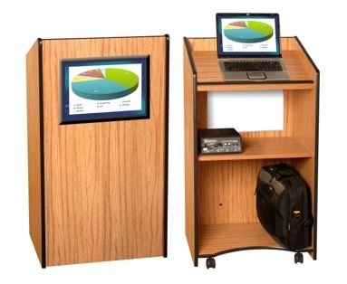 AmpliVox Visionary Lectern Makes Graphic Displays Easy and Attractive