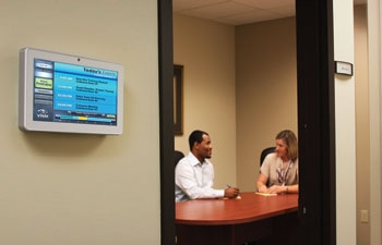 Visix Adds Sleek New 10-inch Interactive Model to Meeting Room Sign Line