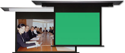 Vu-Flex Pro Duplex with a Green/Blue Chroma Key Screen Option To Be Featured At InfoComm 2008
