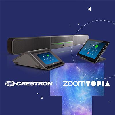 Crestron Flex for Zoom Rooms to Make World Debut at Zoomtopia 2019 Conference