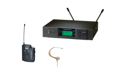 AUDIO-TECHNICA OFFERS BP893cW MicroEarset HEADWORN MICROPHONE WITH 2000 AND 3000 SERIES WIRELESS SYSTEMS