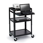 BRETFORD LAUNCHES NEW ADJUSTABLE HEIGHT CARTS WITH WELDED PULL-OUT SHELVES FOR EASY ASSEMBLY AND LAPTOP SUPPORT