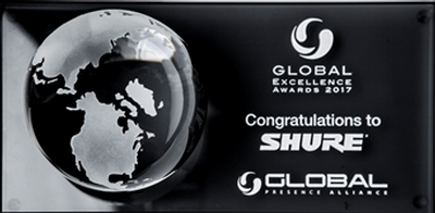Shure Receives Top Honors from Global Presence Alliance