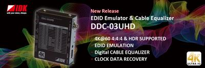 IDK Now Shipping 4K@60 EDID Emulater & HDMI Cable Equalizer