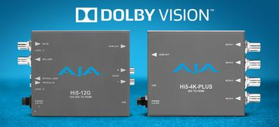 AJA Introduces Dolby Vision Support for 4K Mini-Converters at IBC 2019