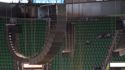 Electro-Voice line arrays ride the roar at EnergySolutions Arena