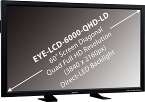 Eyevis presents new 60-inch quad full HD Display with Direct-LED backlight