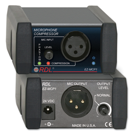 RDL Introduces EZ-MCP1 Microphone Compressor