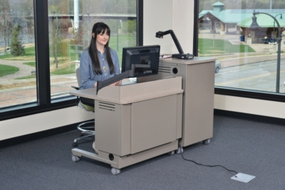 Spectrum Industries, Inc. reintroduces height adjustable lectern with electric lift system