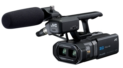 JVC Introduces GY-HMZ1U ProHD 3-D Camcorder at NAB 2011