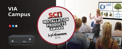 Kramer - VIA Campus Wins Most Innovative Collaboration Product Award at InfoComm 2016