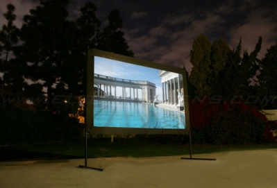 New Outdoor Projection Screen for the Summertime