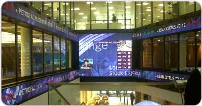Christie MicroTiles Utilized for New Market Open Ceremony at London Stock Exchange