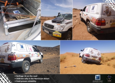 "Analog Way proves reliability of its new LiveCore platform during the 2013 ""Rallye Aïcha des Gazelles Morocco"""