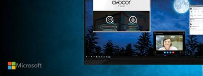 Avocor partners with Microsoft to build a new category of advanced Collaboration Displays that enable teamwork, creativity and productivity