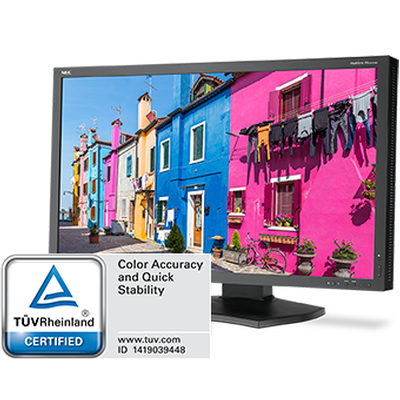 NEC MULTISYNC® PA322UHD-BK-2 DISPLAY RECEIVES  TÜV RHEINLAND CERTIFICATION FOR COLOR ACCURACY AND QUICK STABILITY