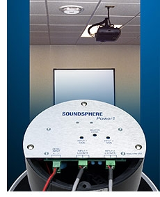 Soundsphere Introduces Powered Ceiling Loudspeaker for Direct Connection to Projectors and Computers