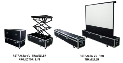 Vutec Debuts Labor Free Motorized Retracta-Vu Traveller Screen & Projector Lift at InfoComm 2011
