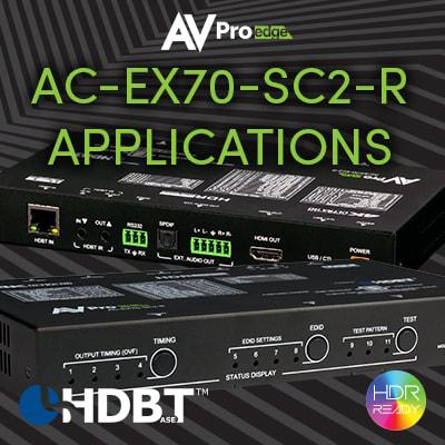 APPLICATIONS FOR THE NEW AC-EX70-SC2-R