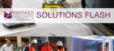 Solutions Flash: Retail Storefront - Video Wall - Floor & Overhead Anchored